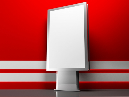 advertising billboard on white and red  background Stock Photo - 14397560