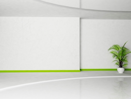 Interior design scene of living room with a plant Stock Photo - 14397945