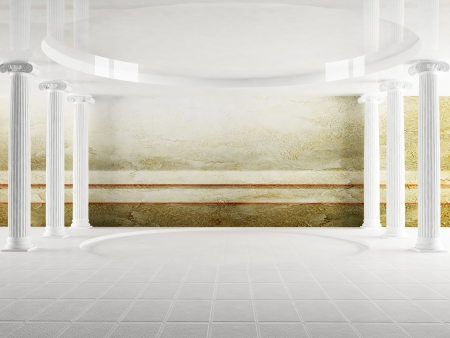 Inter design scene with columns in empty room Stock Photo - 15305662