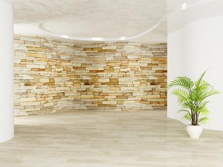 Beautiful warm room with a plant Zdjęcie Seryjne - 15305692