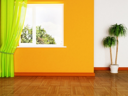 inter design scene with a plant and the window Stock Photo - 15305666