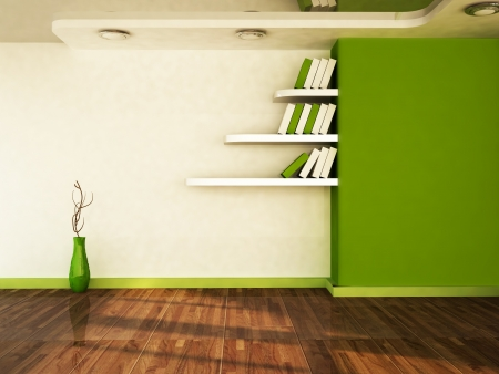 interior design scene with a vase, the shelves Stock Photo - 16183366