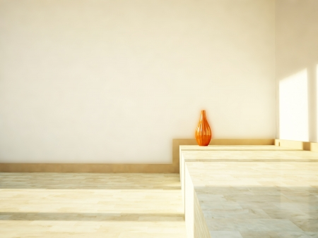 a vase on the floor in the room