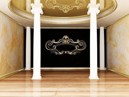 estuco: hermosa habitaci�n con las columnas, lo que hace Foto de archivo