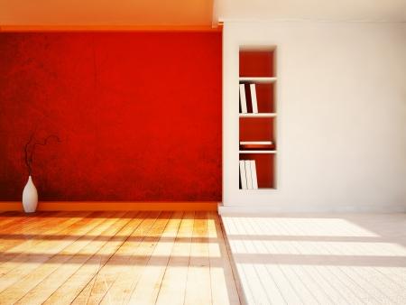 estuco: un jarr�n bonito y el nicho en la sala de