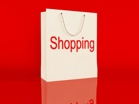 time to make  a shopping, rendering Stock Photo - 17358373
