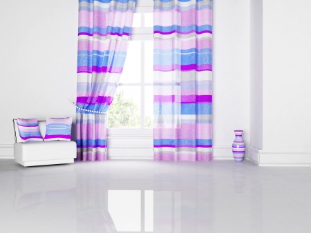 bright interior with nice stripes, rendering photo