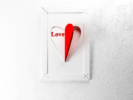 interesting picture on the wall for St. Valentine's Day Stock Photo - 17358460