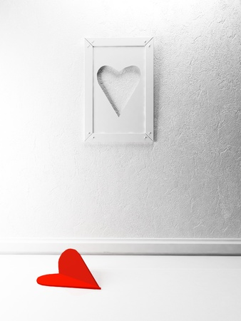interesting picture on the wall for St. Valentine's Day Stock Photo - 17358477