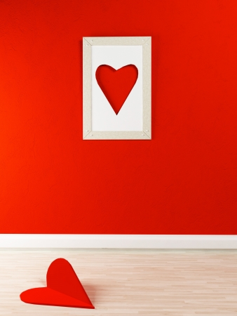 interesting picture on the wall for St. Valentine's Day Stock Photo - 17358432