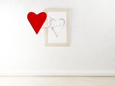 interesting picture on the wall for St. Valentine's Day Stock Photo - 17358408