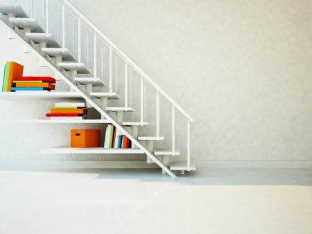 space saving, using a space under the stairs