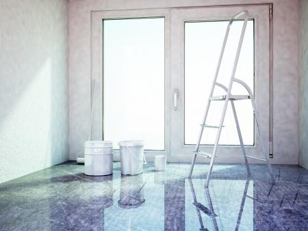 repairing works in the room, rendering Stock Photo - 22268823