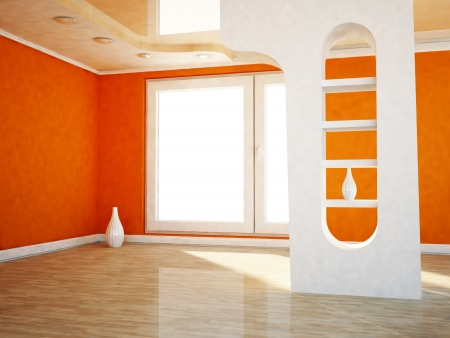 interior design scene with a window, and a vase photo