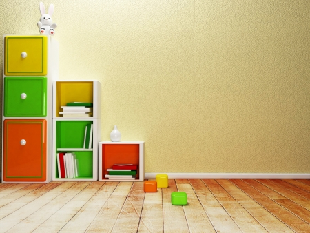 storage compartment: babys room, fragment of the interior