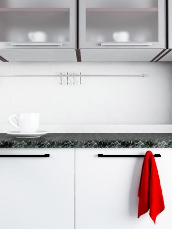a fragment of modern kitchen interior photo