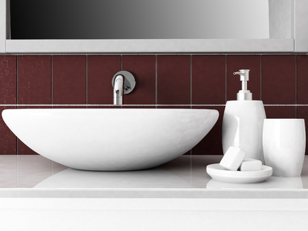 a part of bathroom interior,rendering photo