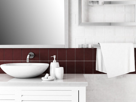a part of bathroom interior,rendering
