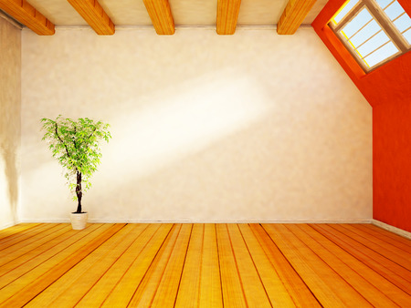 plant near the window, 3d rendering