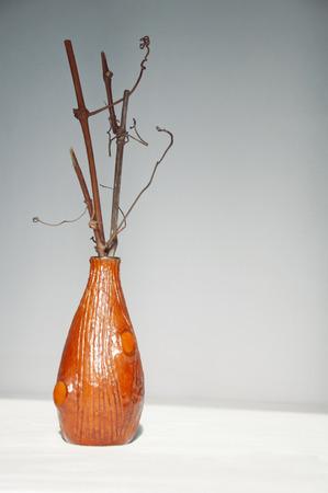ikebana: interesting ikebana with the branches