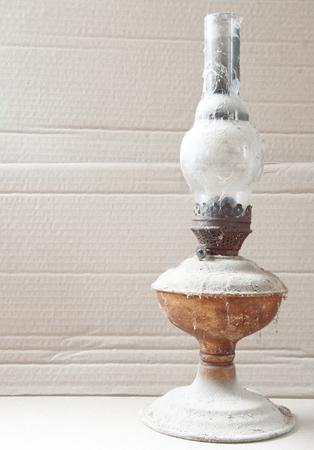 kerosene: an old kerosene lamp