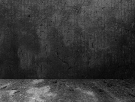 darkroom: dark empty room in grunge style, 3d rendering
