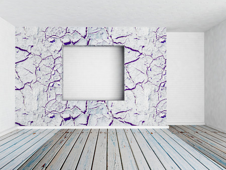 niche: niche in the empty wall, 3d rendering Stock Photo