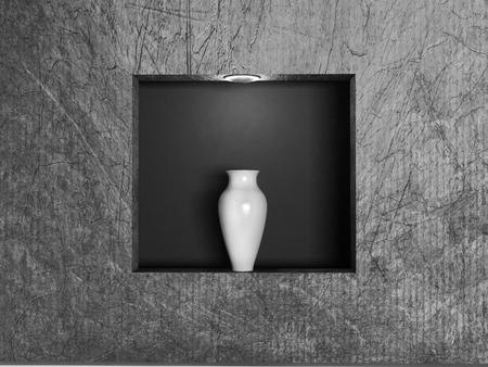 niche: vase in the niche, 3d rendering Stock Photo