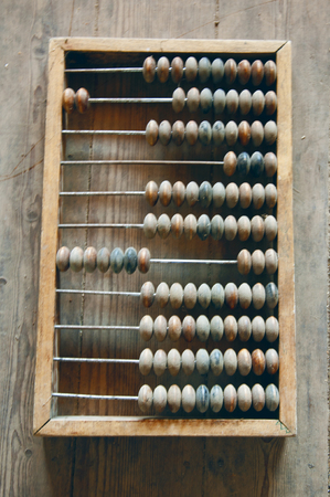 the wooden abacus on the floor