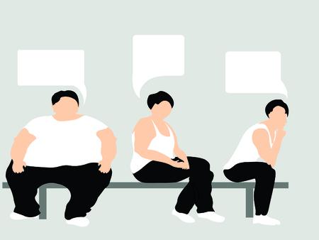 tre uomini in panchina, stanno pensando a qualcosa