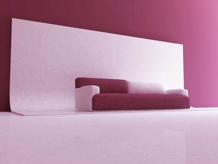 sofa in the room, 3d rendering 스톡 콘텐츠