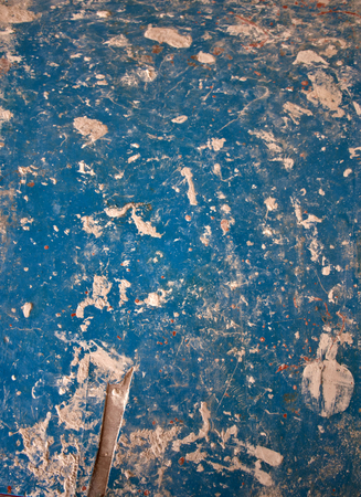 old blue texture, stains and paint Archivio Fotografico