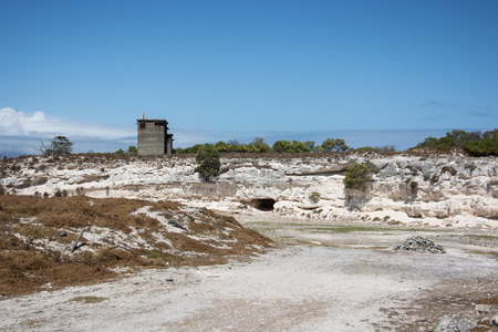 robben island: Cape Town, South Africa - March 03, 2017: Robben Island limestone quarry