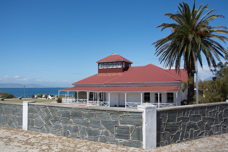 robben island: Cape Town, South Africa - March 03, 2017: Robben Island guest house, previously the British Commissioners residence
