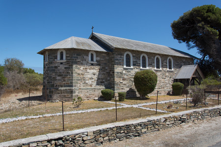 robben island: Cape Town, South Africa - March 03, 2017: Church of the Good Shepherd on Robben Island Editorial
