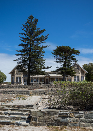 robben island: Cape Town, South Africa - March 03, 2017: The Robben Island school which was closed in December of 2011 Editorial