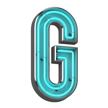 3d neon letter g