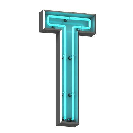 3d neon letter t Zdjęcie Seryjne