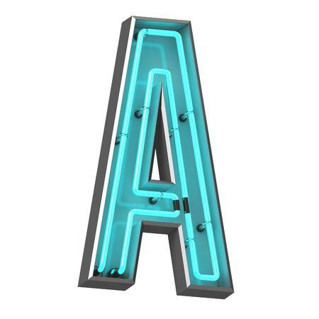 3d neon letter a Zdjęcie Seryjne