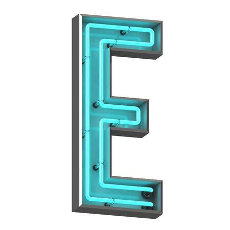 3d neon letter e Zdjęcie Seryjne