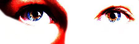 Abstract Art of Human Eyes Reklamní fotografie
