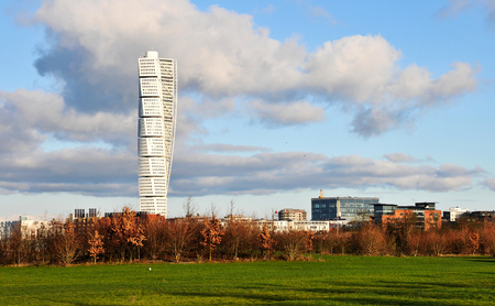 tall building : the turning torso 스톡 콘텐츠
