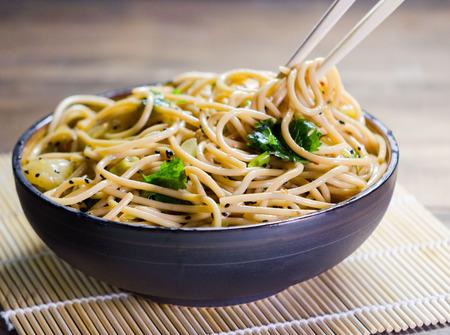 Noodle Bowl Stockfoto