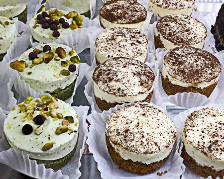 Cocoa and Pistachio Cakes