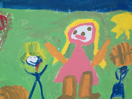artwork: Kindergarten wall art painting