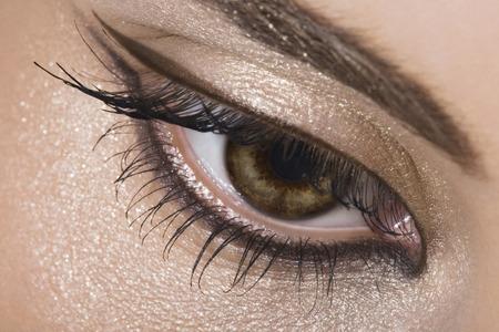 eyes hazel: Close-up of woman hazel eye Stock Photo