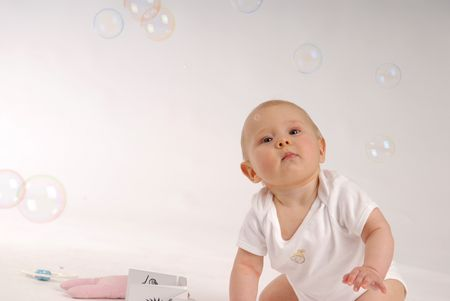 Child with the soap bubbles Stock Photo - 3382324