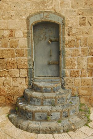 bulwark: An entrance to the fort in Acre, Israel