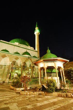 acre: Mosque Al-Jazzar in Acre, Israel Stock Photo