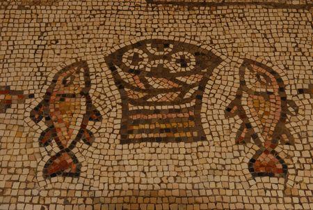 A mosaic in Tabgha, Israel